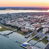 Sunset over downtown historic Charleston