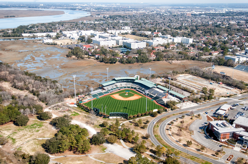 Joe Riley Stadium, The Citadel and the Ashley River