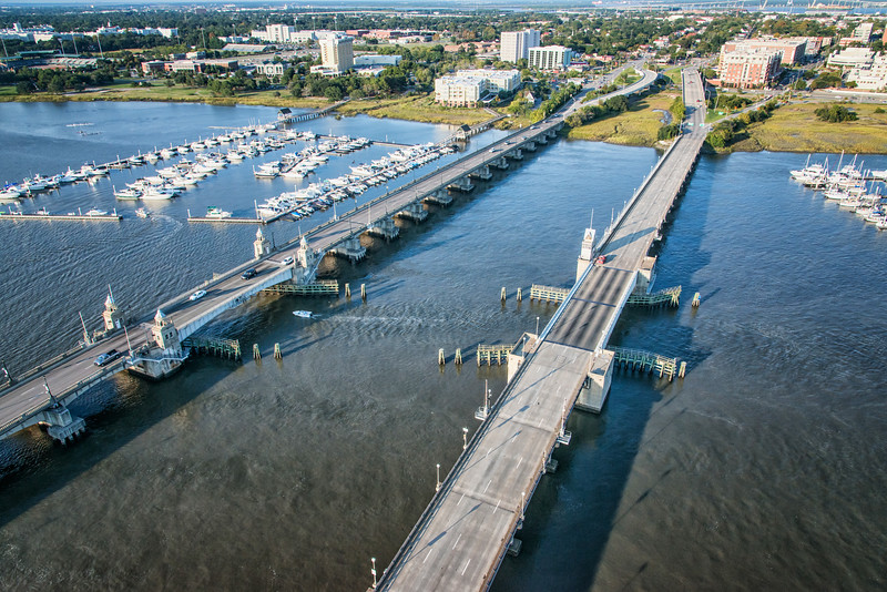Ashley River Bridges; Spring and Cannon Streets