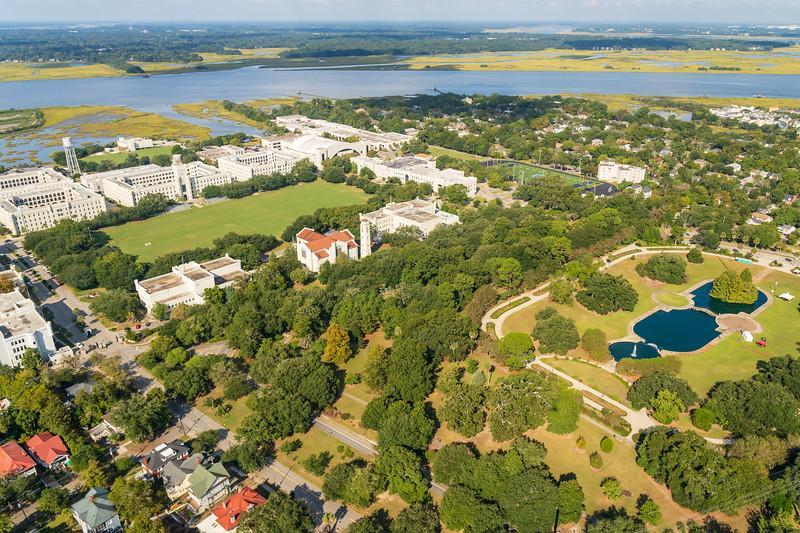 Hampton Park and the Citadel Military College