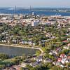 Colonial Lake and downtown historic Charleston