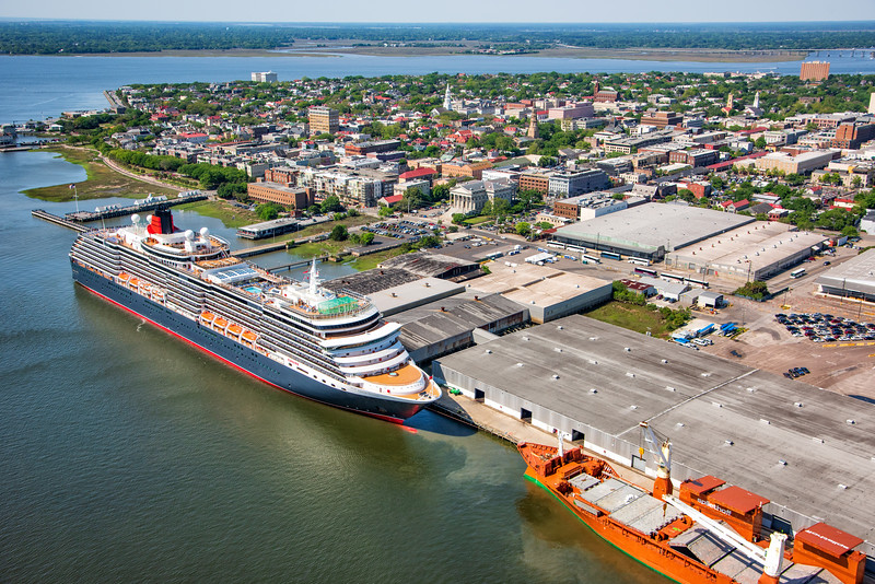 Cruise Ship in the port of Charleston, SC