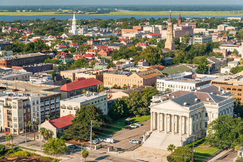 US Custopms House and Charleston's historic steeples