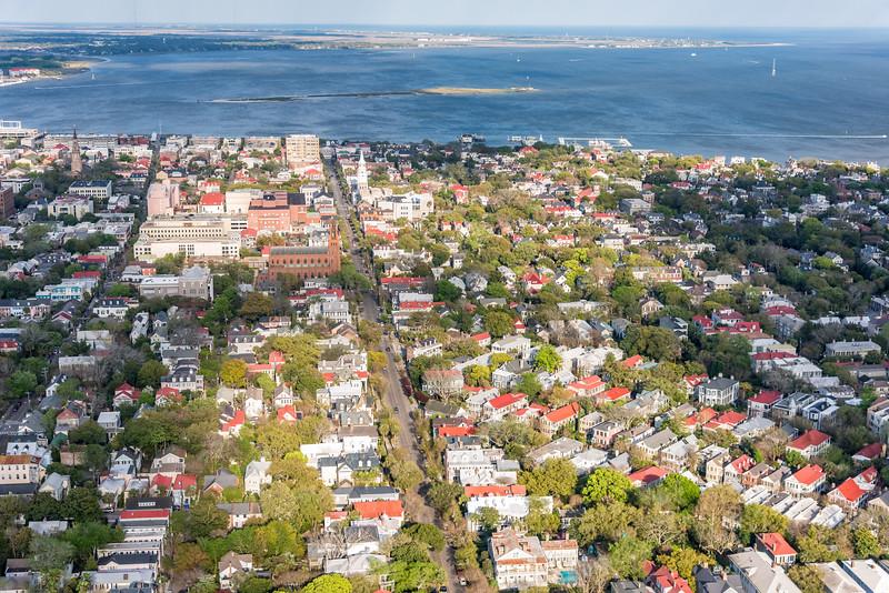 Broad Street and Charleston Harbor