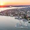 Sunset over downtown historic Charleston
