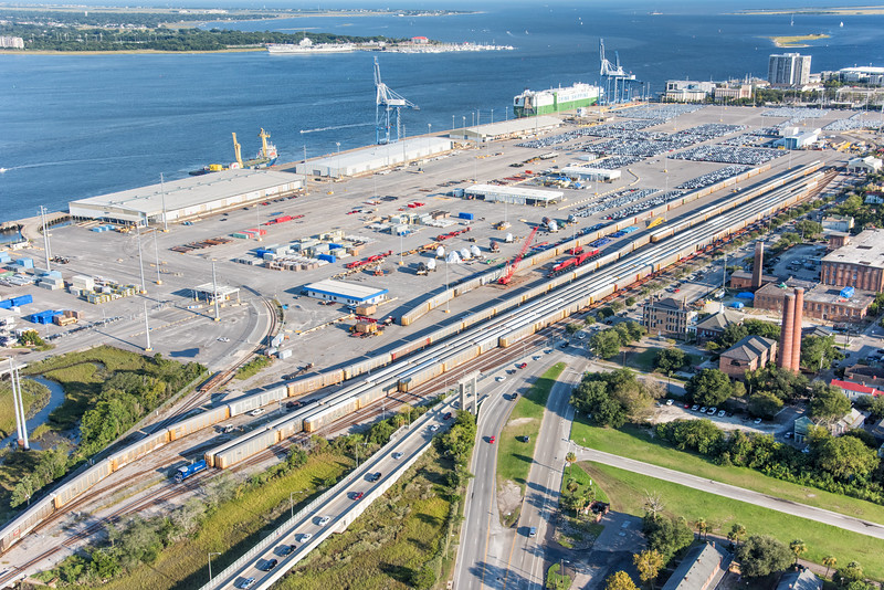 SC Ports Authority Shipping Terminal & East Bay Street