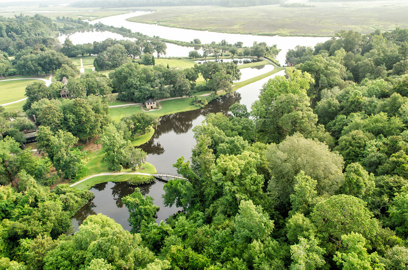 Middleton Place gardens and the Ashley River