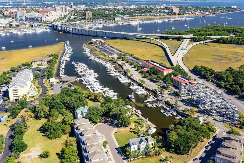 Ripley Light Marina and Downtown Charleston