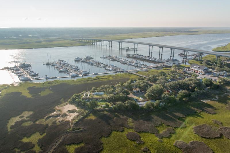 Stono Bridge and St. John's Yacht Harbor on the Stono River