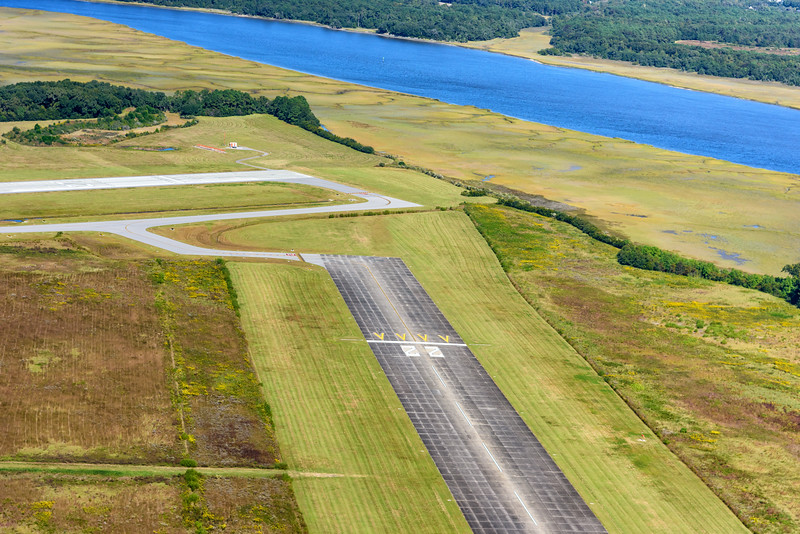 Johns Island Executive Airport and the Stono River