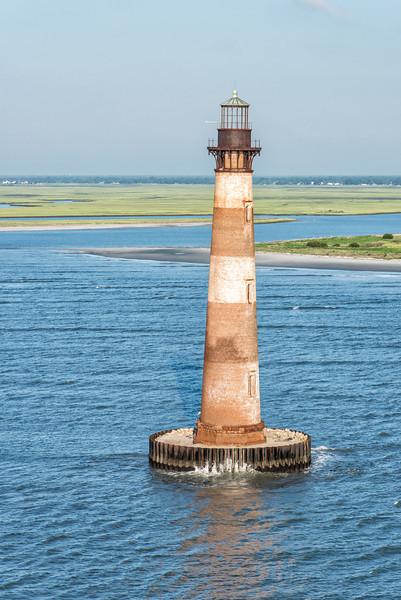 Morris Island Lighthouse looking towards Folly Beach