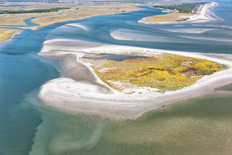 Bird Key and Stono Inlet at low tide