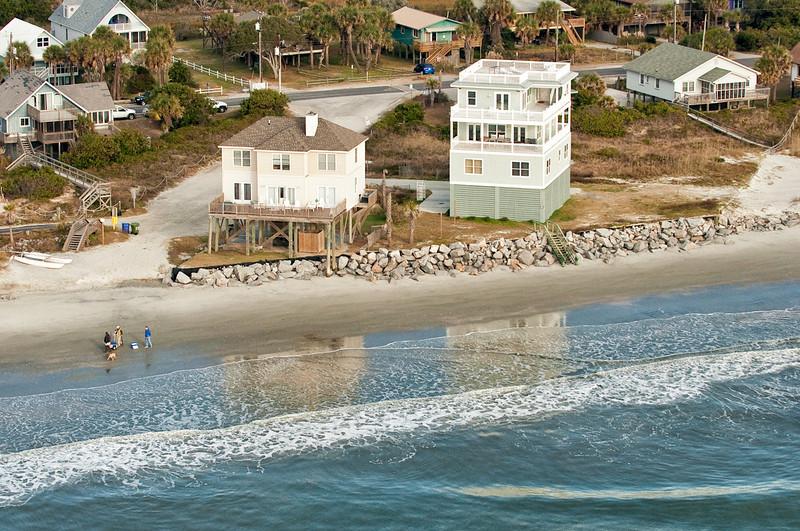 End of the line houses, Folly Beach, SC