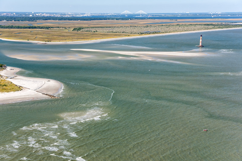 Morris Island Inlet and Lighthouse