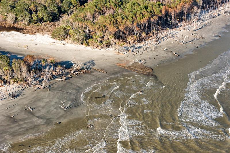 Bulls Bay Boneyard Beach after Hurricane Matthew, October 2016