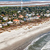 Shoreline and East Ashley Avenue, Folly Beach, SC