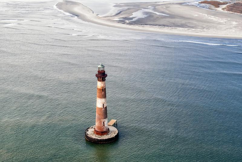 Morris Island Lighthouse and Folly Beach, SC