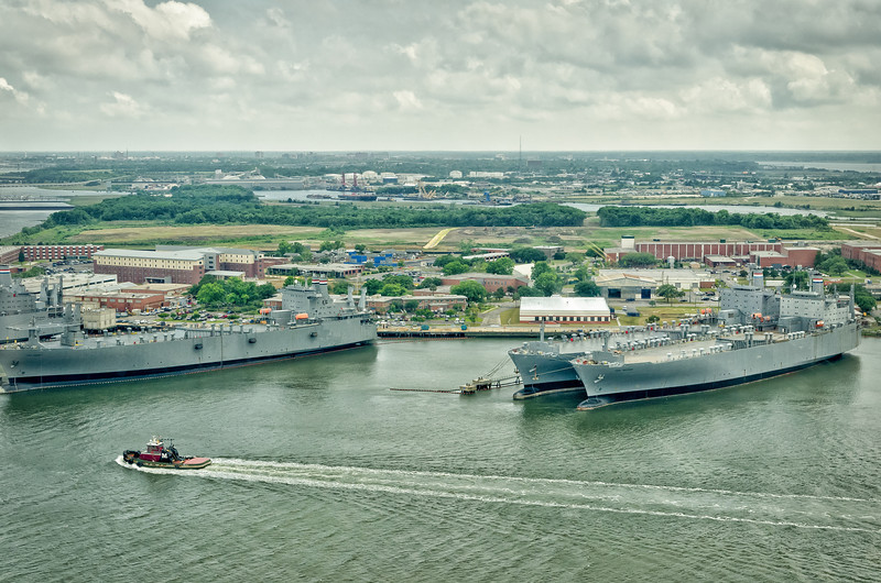 MARAD US Navy ships tied up in the Cooper River