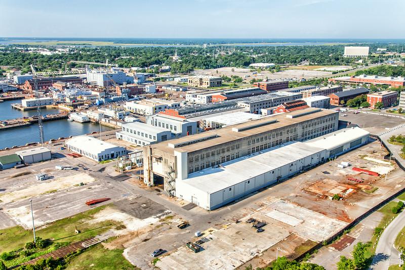 Detyens Shipyards and the Navy Yard at Noisette, North Charleston, sC