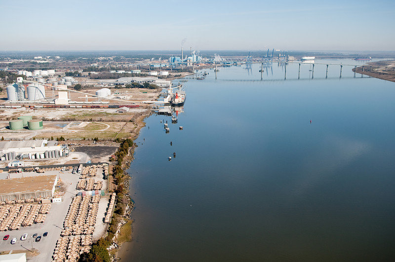 Cooper River and North Charleston looking towards the I-526