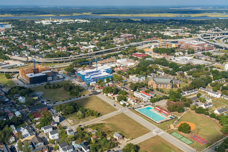 Martin Luther King Jr. Pool and Martins Park with Septima Clark Parkway