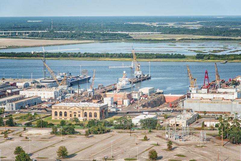 Old Power Plant Building, Detyens Shipyards & CMMC, Old Navy Yard