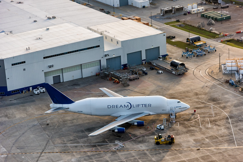 Dreamlifter at Boeing, SC