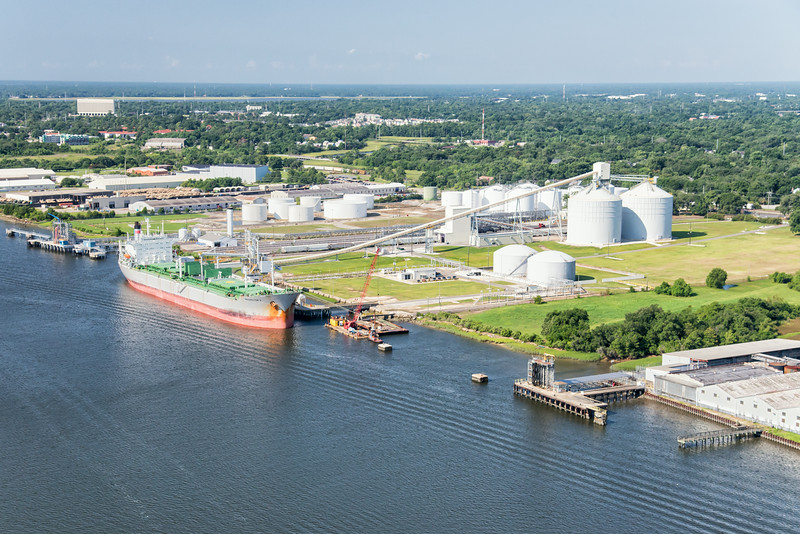 Delfin, Chem-Marine and Odjfell on the Cooper River, North Charleston