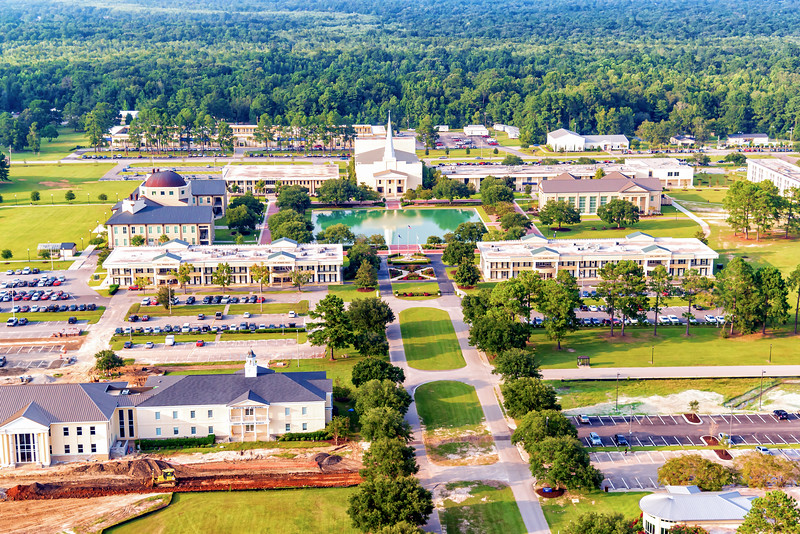 Charleston Southern University campus & the Lightsey Chapel