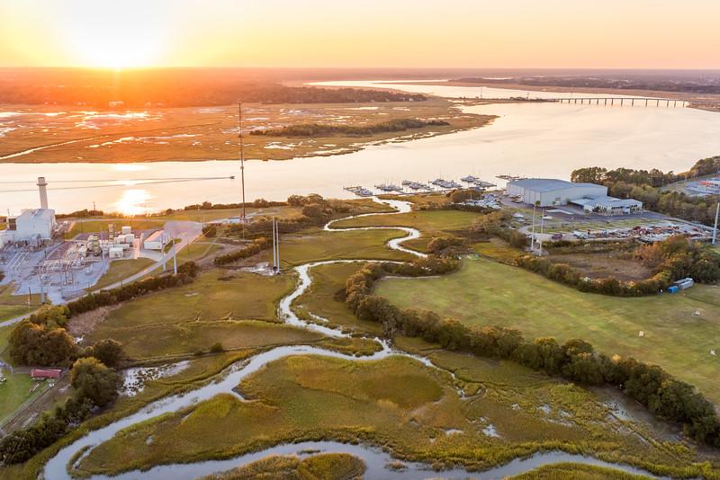 SCE&G Hagood Plant and Dolphin Cove Marina, Ashley River