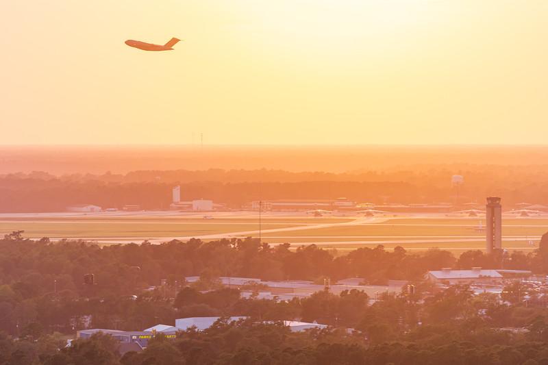 Take off from Charleston International Airport