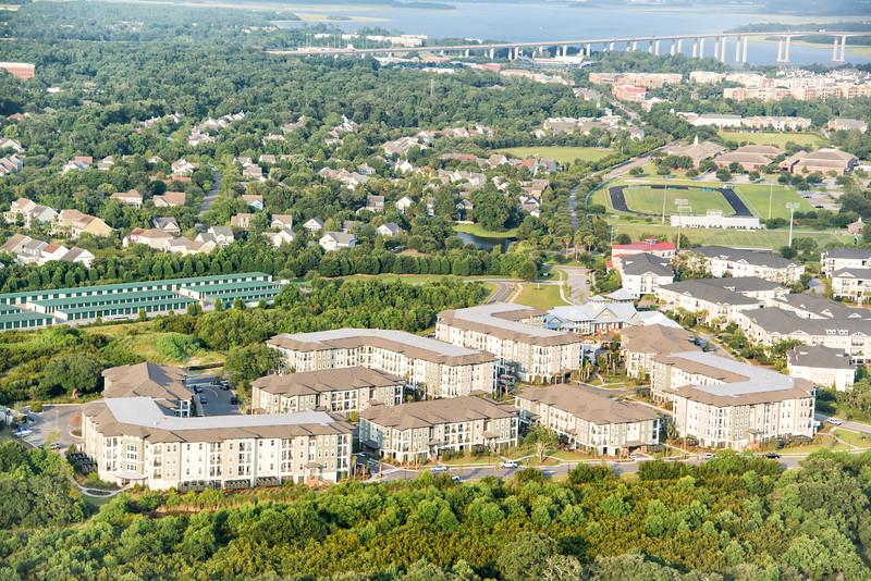 Daniel Island apartments, Bishop England School and the I-526