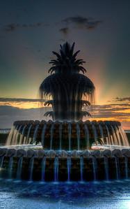fountain-sunrise-hdr