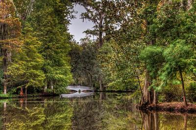 bridge-pond-trees-reflection