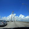 crossing the Ravenel Bridge heading into downtown Charleston from Mt Pleasant