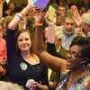 John Tecklenburg's supporters sang and danced in the Charleston Marriott as election results were tallied. (Photo/Ashley Heffernan)