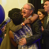 Mayor-elect John Tecklenburg celebrates with his supporters at the Charleston Marriott on Nov. 17. (Photo/Ashley Heffernan)
