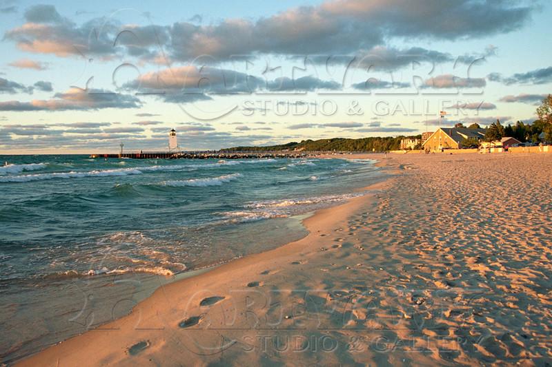 Lk Mich Beach footprints 18x24