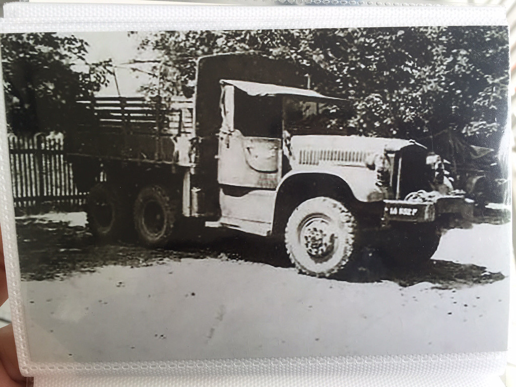 . Charlie Sanderson from Shirley MA. Here\'s the truck he drove during the Red Ball Express and the Howitzer cannon he used during WWII. Courtesy Photos