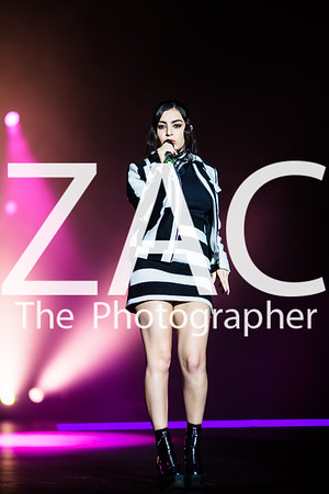 Charli XCX performs to a packed crowd at the Clothes Show