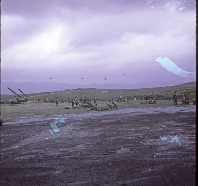 Birds returning from combat assault
