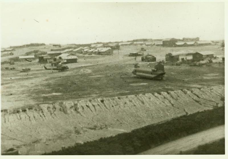 Currahee chopper pad at Camp Evans.