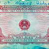 North Vietnames currency found on an enemy soldier.