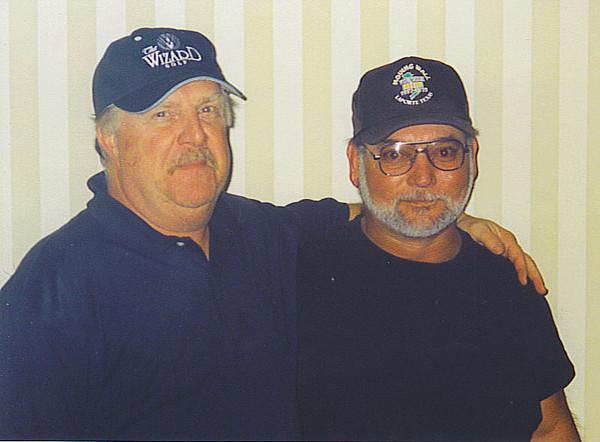 """Mat Budziszweski and Larry """"Little Tex"""" Sonnier."""