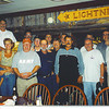 "SMG Brennier, between Zippo and GEN Porter, front row treated us to dinner at a local sea food resturant.  front row: Bruce, Merry (not Mary) and tyee Kotschwar, Matt Budziszewski, Larry Sonnier, Zippo, SMG Brennier, Bobby B. Porter.  in the back: Chuck Kerr, George Gray (aka ""bad pants""), Dan Pierce, Tom pulliman (friend of Dan's) Mike Whitaker, ?, ? (both friends of Dan), John Georgiton."