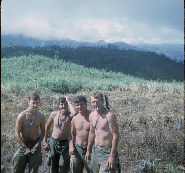 Carroll Shiltz, Richard Kukucka, Jim Lee, and Mike Aird  FSB Victory Nov 1969.