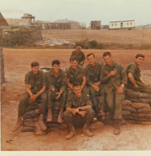 """Back with head down - Derek Montey?<br /> <br /> Front - Buzz Buzzell<br /> <br /> Middle:  Gary Tarpein, Jim Lee, GaryStacey, Danny Burres, Phillip Stanley, and Jack """"Doc"""" Wells (not a medic)"""