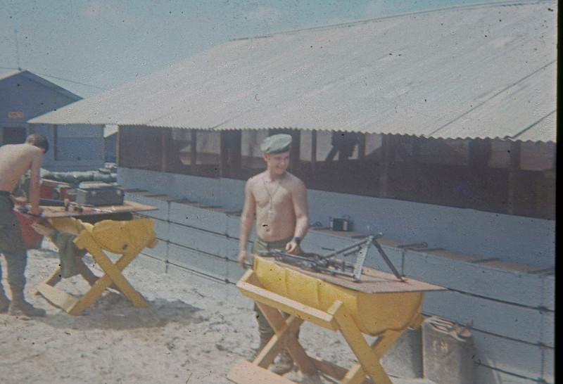 Richard Hahn cleaning machine gun