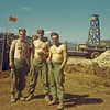 "Mike Aird, Tom Williams, and Ron ""Ringo"" Ringeisen at Camp Carrol."