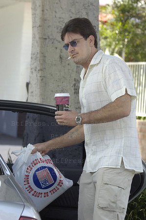 Charlie Sheen shop in Fred Segal in Santa Monica,California.